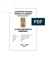 DECLARATORIA DE HEREDEROS MONOGRAFÍA
