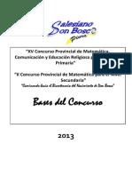 Bases Concurso Provincial Don Bosco