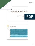 LÉXICO-PORTUGUÊS-Fontes