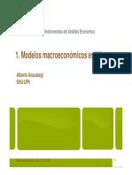 1.- Modelos Macroeconomicos Estaticos