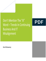 """Don't Mention The """"A"""" Word – Trends In Continuing Business And IT Misalignment"""