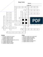 body parts crossword