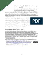 Tiposdeactividadesdeaprendizajeparalaalfabetizacinenpreescolaryprimaria