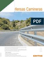 Cintac Infraestructura Vial Ficha Defensas Camineras