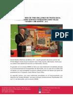"""26-01-13 PREMIOS POR MÁS DE TRES MILLONES DE PESOS EN EL PRIMER MAGNO SORTEO FUNDACIÓN CANO VÉLEZ  """"AYUDO Y ME GUSTA"""", A.C."""