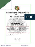 Modulo 1 La Realidad Del Pais y Su Incidencia en Los Ambitos de Las Profesiones Del Area Juridica Social y Administrativa 2011 20121