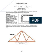 Mathematics of a Carpenter's Square
