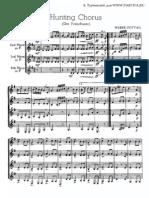 Hunting Chorus (cuarteto de trompas - Guión)