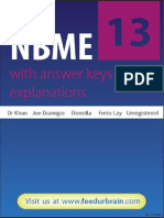 Nbme 13 Answers w Explanations