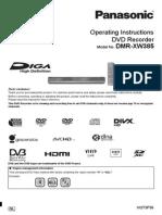Panasonic DMR-XW385 User Manual