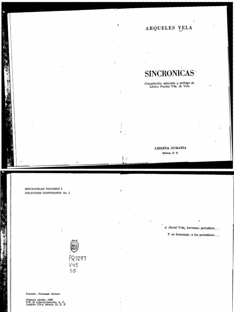 Arqueles Vela [1980] -Sincrónicas