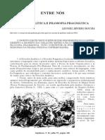 filosofia analítica e filosofia pragmática - leonel severo rocha