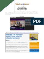 AVANCE 1-23-14 Sponsorship Report