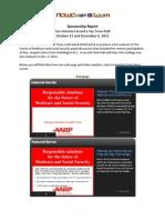 AARP Town Hall 2013 Sponsorship Report