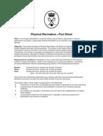 Physical Recreation—Fact Sheet