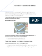Mesure Du Coefficient d Aplatissement