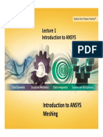 Mesh-Intro 14.0 L-01 Introduction to ANSYS
