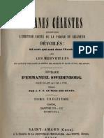 Em Swedenborg ARCANES CELESTES TomeTreizieme 1sur2 Exode XVI XIX Numeros 8387 8852 LeBoysDesGuays 1851