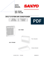 Air Conditioning Sanyo Service Manual SAP FR99E FTR129E
