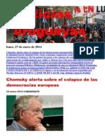 Noticias Uruguayas Lunes 27 de Enero Del 2014