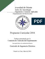 Currículo de Ingeniería Eléctrica - Universidad de Oriente