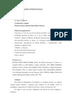 Programa de Historia Das Relacoes Internacionais