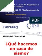 Ley 29783  y  DS 005-2012-TR
