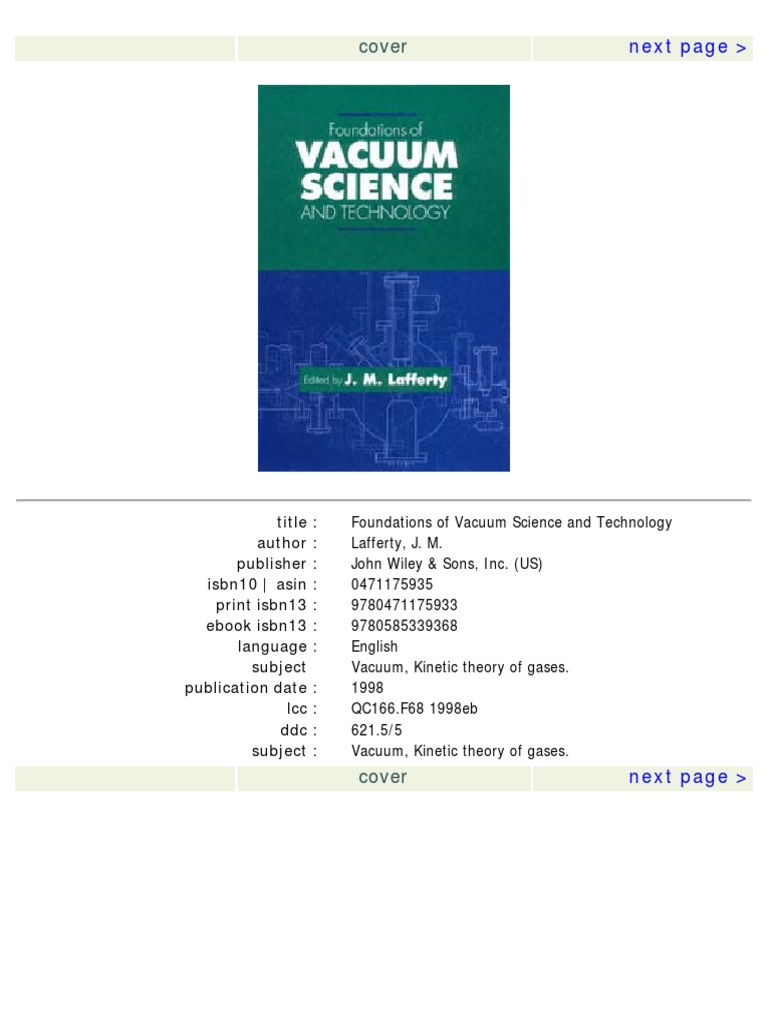Handbook Of Vacuum Technology Karl Jousten Download