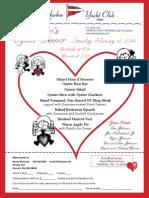 AHYC Valentine's Weekend Oyster Dinner