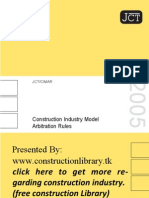 Construction Industry Model Arbitration Rules (CIMAR)