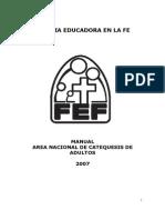 Fef Manual Area Catequesis de Adultos 2007