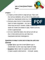 create a crime scene project