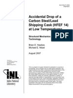 3772061 Accidental Drop of a Carbon Steel-lead Shippong Cask HFEF14 at Low Temperature