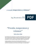 Presion Temperatura y Volumen