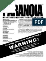 Paranoia XP - Gamemaster Screen Booklet - Mandatory Fun Enforcement Pack