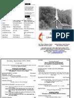 September 27 2009 Web Bulletin