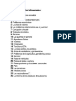 Problemas Sociales Latinoamerica