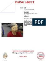 Missing Adult Eva Yi