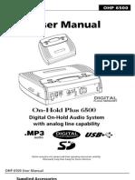 OHP6500 manual