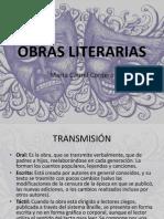 OBRAS LITERARIAS
