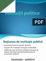 1. Institutii Politice - Prezentare Curs