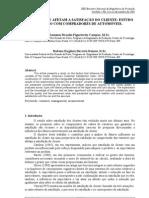 FATORES QUE AFETAM A SATISFAÇÃO DO CLIENTE ESTUDO DE CASO COM COMPRADORES DE AUTOMÓVEIS