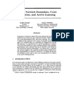 1001 Neural Network Ensembles Cross Validation and Active Learning