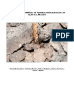 Programa de erradicación hormigas