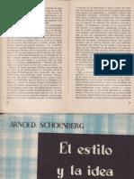 El Estilo y La Idea -Schoenberg
