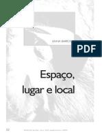Espaço, lugar e local - Ana Barros - 1998