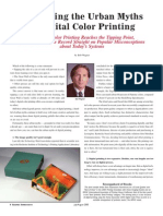 Urban Myths of Digital Printing