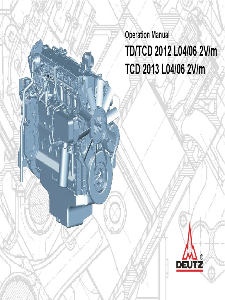 Motor Deutz Tcd20122013 2v Operations Man 3123761 | Motor Oil | Internal  Combustion Engine