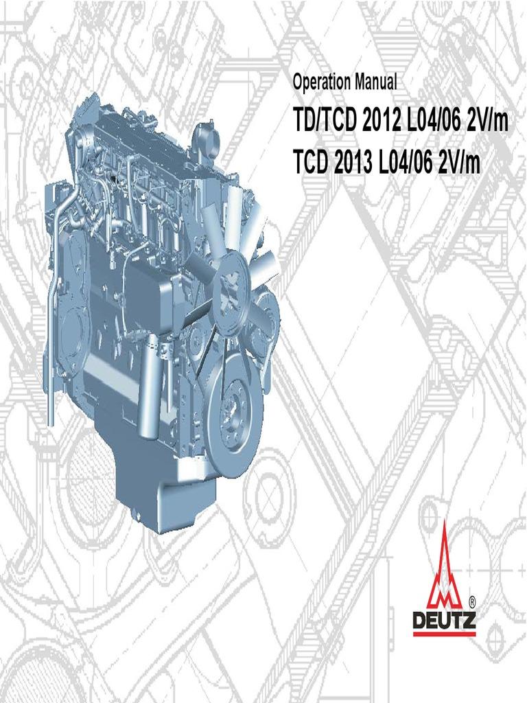 Motor Deutz Tcd20122013 2v Operations Man 3123761 | Motor Oil | Internal  Combustion Engine