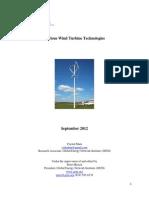 Wind Turbine Technologies